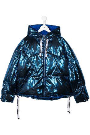Khrisjoy KIDS Metallic-tone padded down jacket
