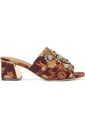 Tory Burch Martine jacquard block-heel mules