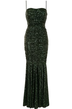 Dolce & Gabbana Sequin ruched gown