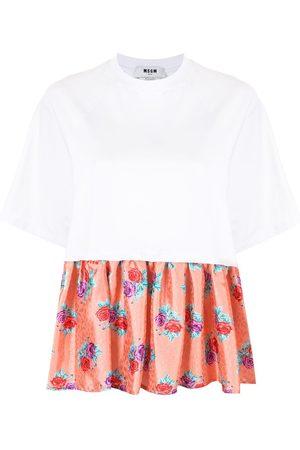 Msgm Floral-hem T-shirt