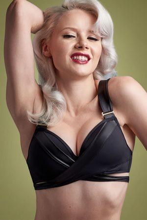 Marlies Dekkers 50s Cache Coeur Push Up Bikini Top in Black