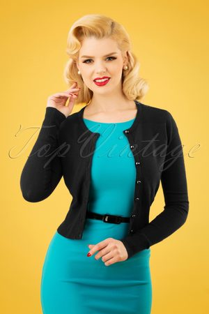 Bunny 50s Paloma Cardigan in Black