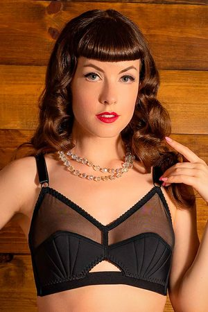 what katie did Dames Accessoires - 50s Liz Retro Bra in Black