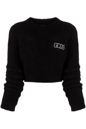 GCDS Cropped logo print jumper