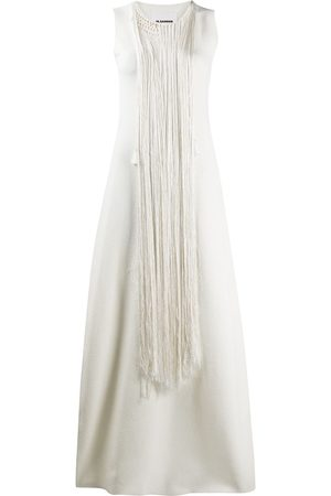 Jil Sander Tassel detail maxi dress