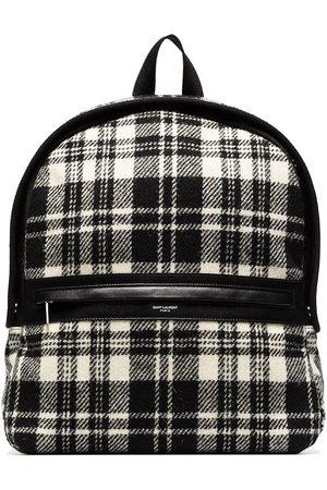 Saint Laurent Camp check-pattern backpack