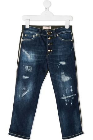 Dondup Two-tone distressed detail jeans