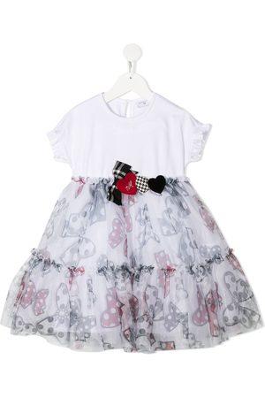 MONNALISA Meisjes Casual jurken - Bow print flared dress