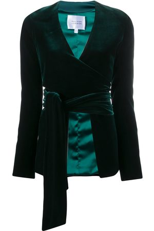 GALVAN Winter Sun velvet-effect jacket