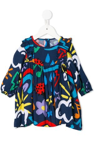 Stella McCartney Ruffle-detail printed dress