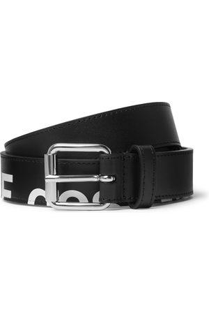 Comme des Garçons Heren Riemen - 3cm Logo-Print Leather Belt