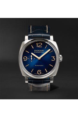 PANERAI Heren Horloges - Radiomir Mediterraneo Automatic 44mm Titanium and Alligator Watch, Ref. No. PAM01078