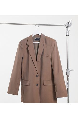 ASOS ASOS DESIGN Tall perfect slouch dad suit blazer in mocha-Brown
