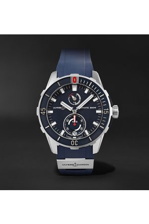 Ulysse Nardin Heren Horloges - Diver Chronometer Automatic 42mm Stainless Steel and Suede Watch, Ref. No. 1183-170-3/93