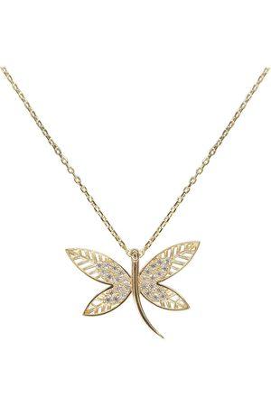 Christian 14 karaat gouden zirkonia vlinder hanger