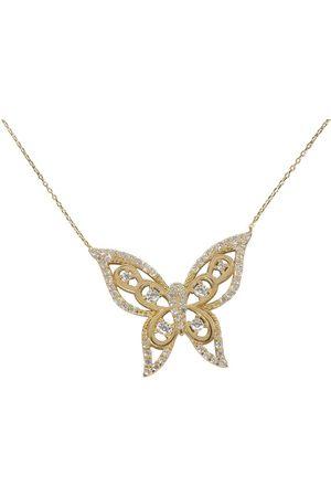 Christian Dames Kettingen met hanger - 14 karaat zirkonia vlinder hanger