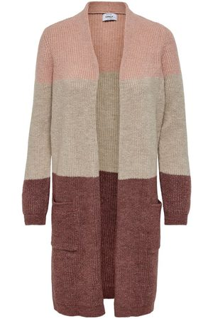 Only Long Knitted Cardigan Dames Rood