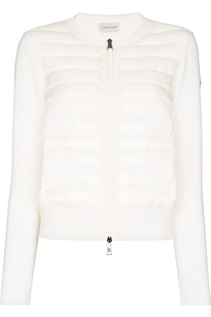 Moncler Padded-panel zip-up jumper