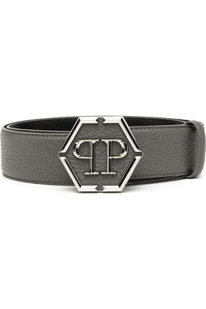 Philipp Plein Hexagon logo-plaque belt