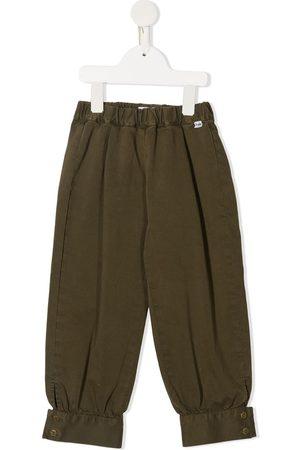 Il gufo Contrast-cuffs slip-on trousers