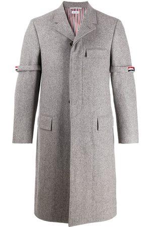 Thom Browne Stripe grosgrain armband tailored coat