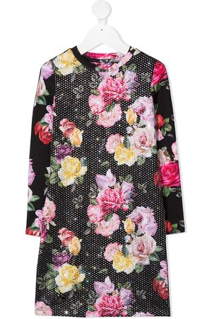 Philipp Plein Embellished floral print jersey dress