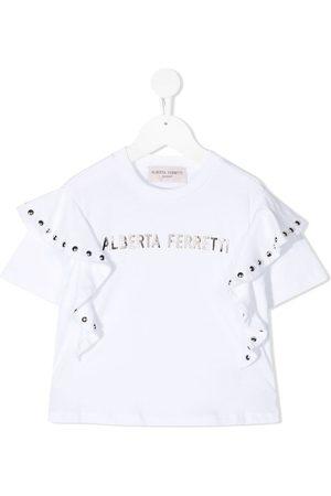 Alberta Ferretti Ruffled-sleeve T-shirt