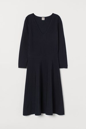H&M Gebreide jurk van viscosemix
