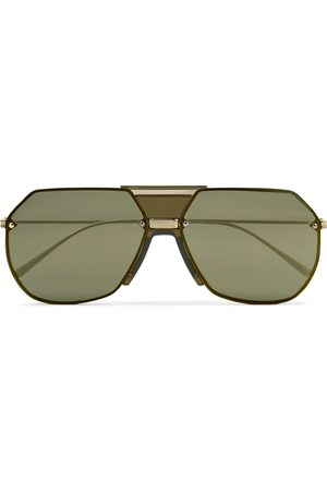 Bottega Veneta Aviator-Style -Tone Mirrored Sunglasses