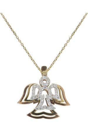 Christian Tricolor gouden zirkonia engel hanger