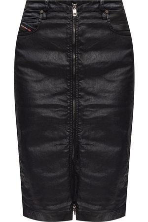 Diesel Dames Midi rokken - Coated denim skirt
