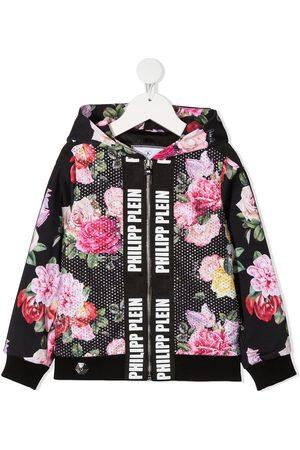 Philipp Plein Floral-print zip-up jacket