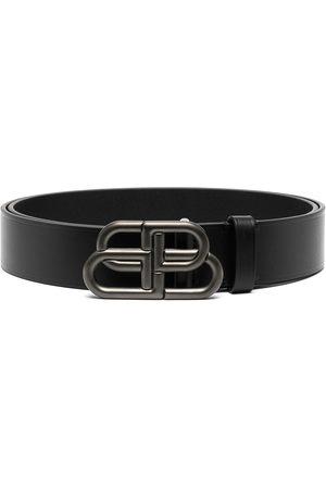 Balenciaga BB buckle leather belt