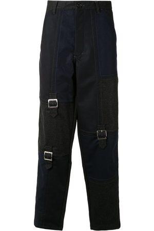 Comme des Garçons Buckle-detail straight-leg trousers