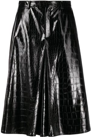 Maison Margiela Embossed faux-leather shorts