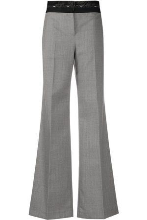 Msgm Logo waistband flared trousers