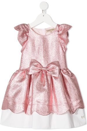 HUCKLEBONES LONDON Metallic layered-hem party dress