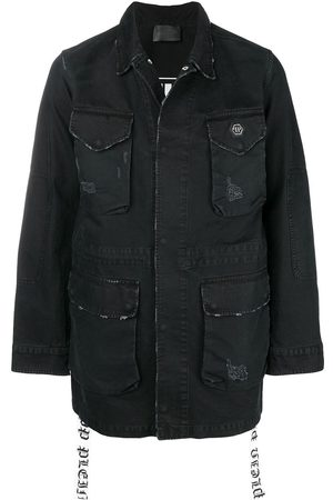 Philipp Plein Multi-pocket denim jacket