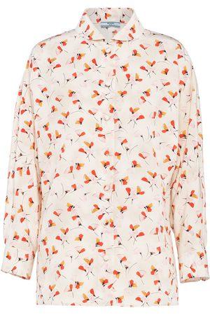 Prada Floral-print buttoned shirt