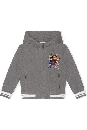 Dolce & Gabbana Embroidered zip-up hoodie
