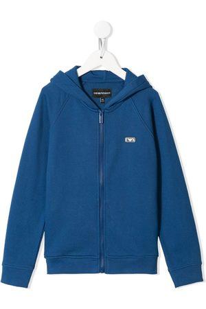 Emporio Armani Logo-patch zipped hoodie