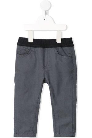 Emporio Armani Kids Check-print slip-on trousers