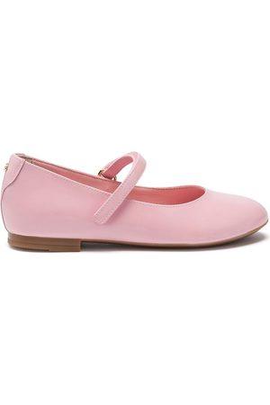 Dolce & Gabbana Kids Leather ballerina shoes