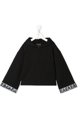Emporio Armani Kids Sequin-embellished wide-sleeve hoodie