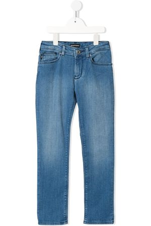 Emporio Armani Kids Mid-rise straight jeans