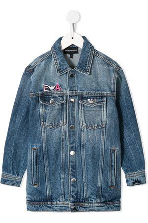 Emporio Armani Embroidered denim jacket
