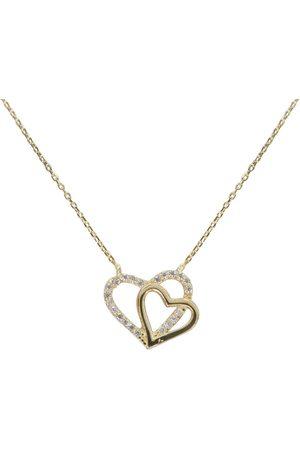 Christian Dames Dubbele kettingen - Gouden dubbele harten hangers