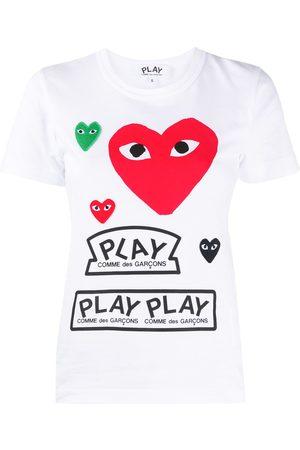 Comme Des Garçons Play Short-sleeved heart print T-shirt