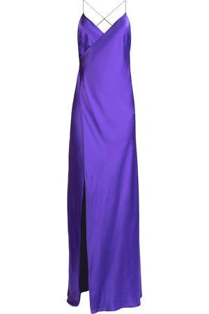 Michelle Mason Dames Feestjurken - Silk front-slit maxi gown