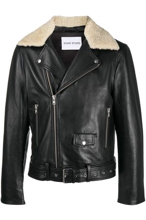 Stand Studio Faux leather biker jacket